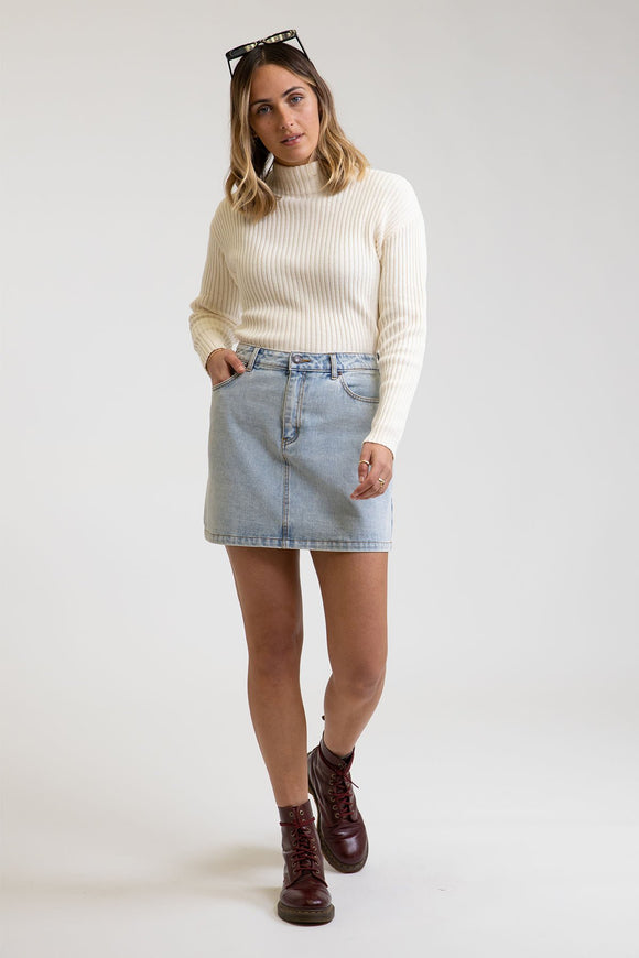 RH ALINE DENIM SKIRT