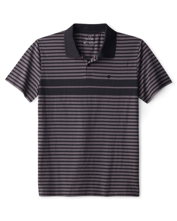 BX SHIELD STRIPE SS POLO X KNIT