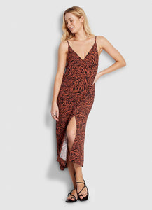SF AMAZONIA LEOPARD SLIP DRESS