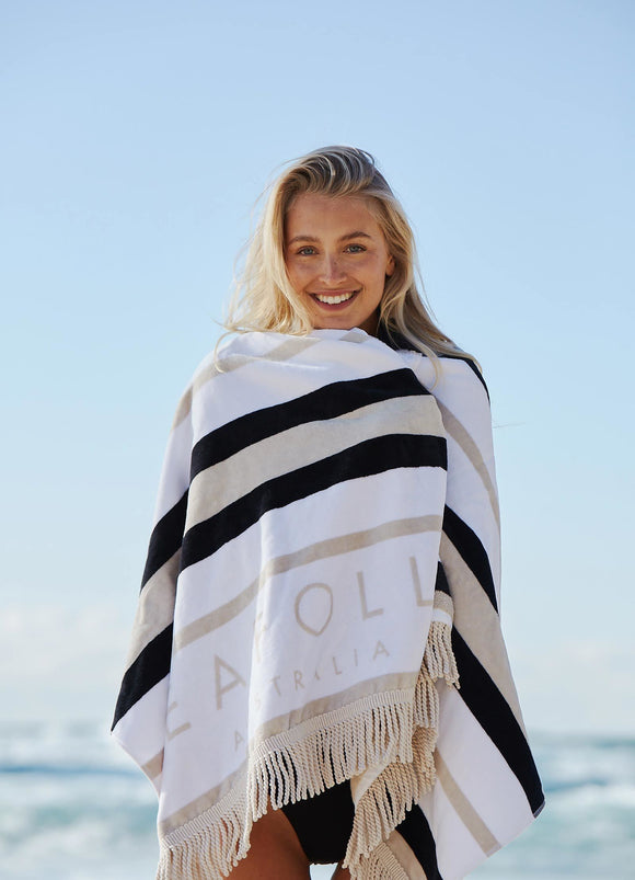 SF FRINGE BENEFITS SUN STRIPE BEACH TOWEL