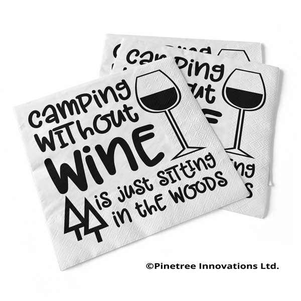 Napkin Camping Without Wine