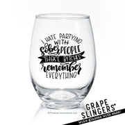 Sober People | Wine Glass