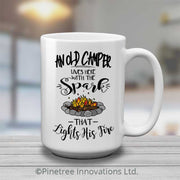 An Old Camper Lives Here | 15oz Mug