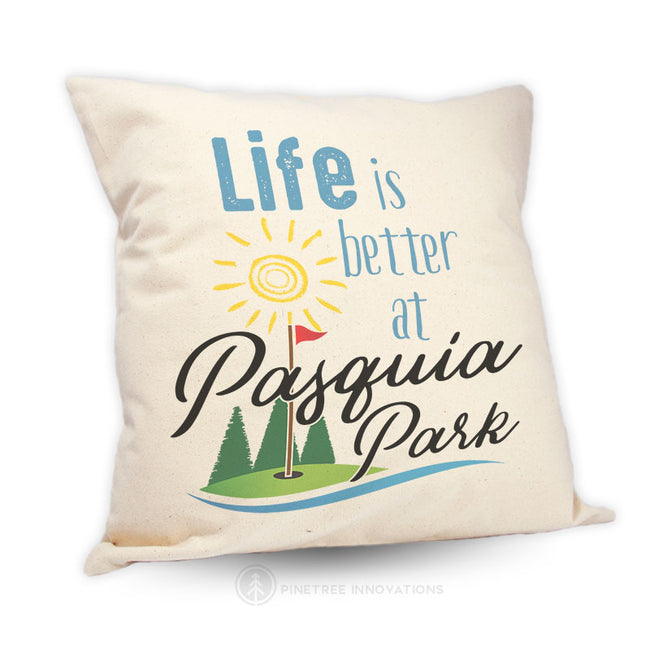 Life Is Better At (Golf) - Pillow