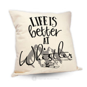 Life Is Better At (Mountain Theme) - Pillow