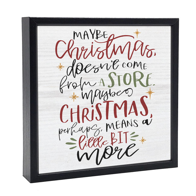 Maybe Christmas | 'Chunky' Wood Sign