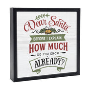 Dear Santa | 'Chunky' Wood Sign