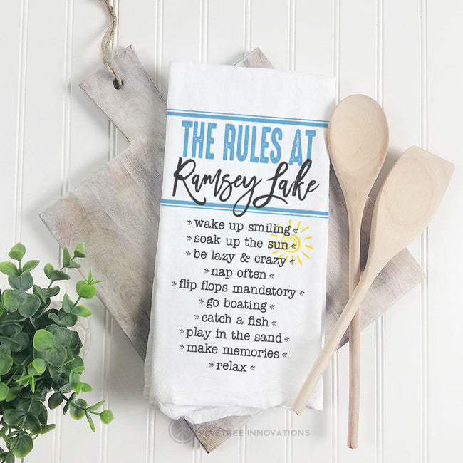 The Rules At - Tea Towel