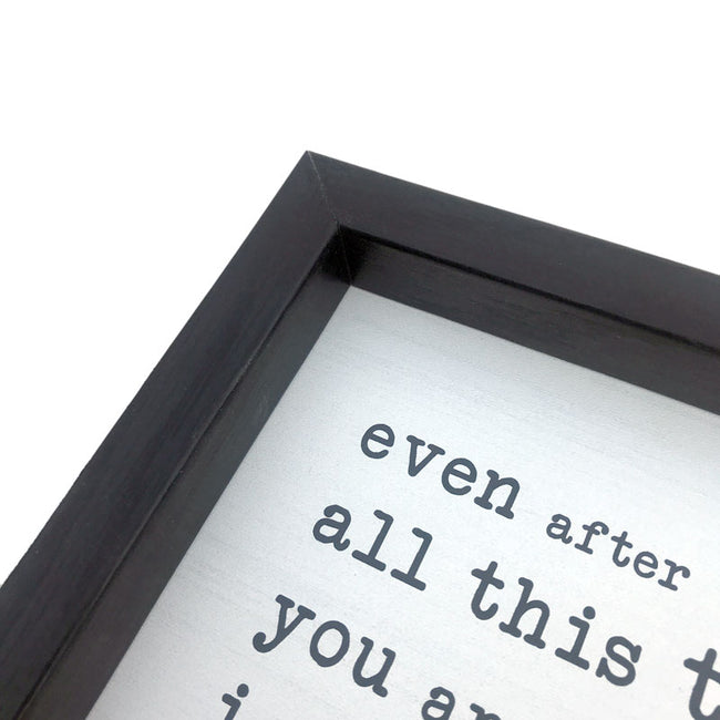 Black Frame - White Sign