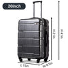 3 Piece Luggage Suitcase Rolling Bag Set