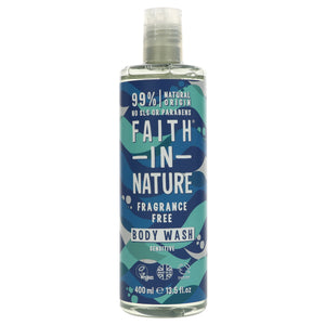 Faith In Nature Fragrance Free Body Wash (400ml)