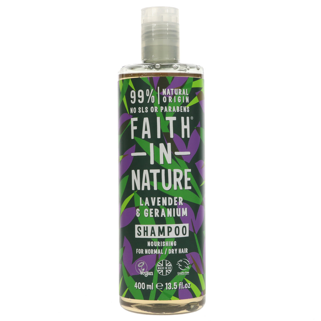 Faith In Nature Lavender & Geranium Shampoo (400ml)
