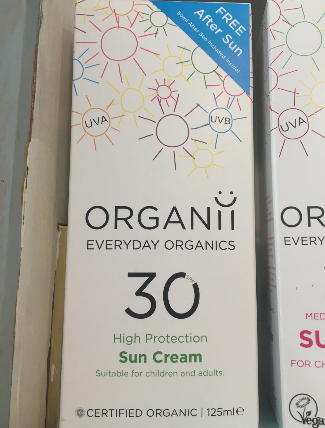 Organii Sun Cream SPF 30 125ml & Aftersu