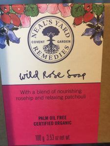 NYR Wild Rose Org soap 100g