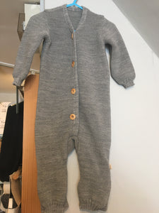 disana Knitted baby Overall grey 0-3mth