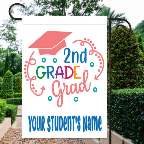 Personalized Name & Grade Graduation Flag