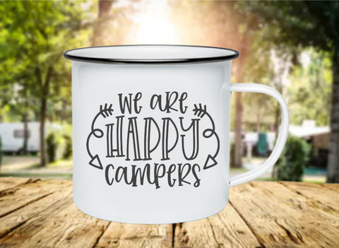 We Are Happy Campers 11oz Enamel Camp Mug
