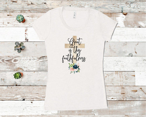 Great Is Thy Faithfulness Ladies T-shirt