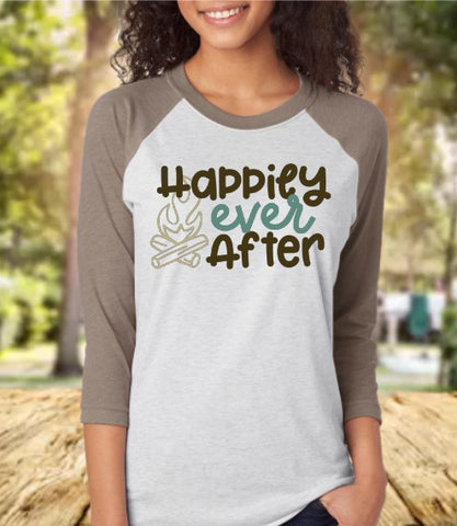 Happily Ever After Baseball 3/4 Sleeve Raglan Tee