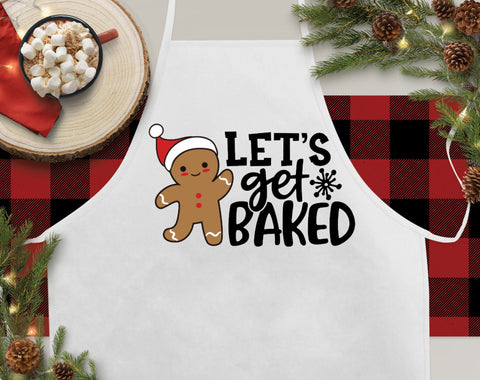 Let's Get Baked Christmas Kitchen Apron