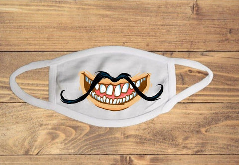 Funny Mustache and Teeth Face Cover