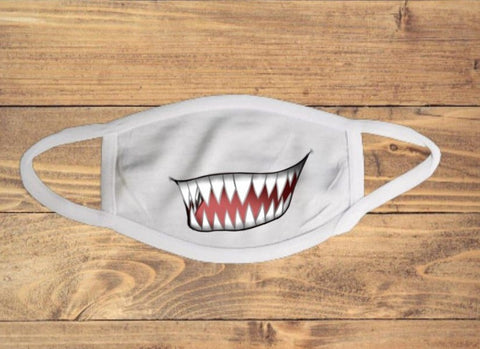 Vicious Teeth Mouth Face Cover