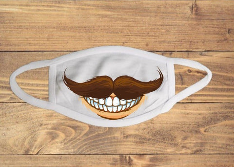 Hipster Mustache Mouth Face Cover