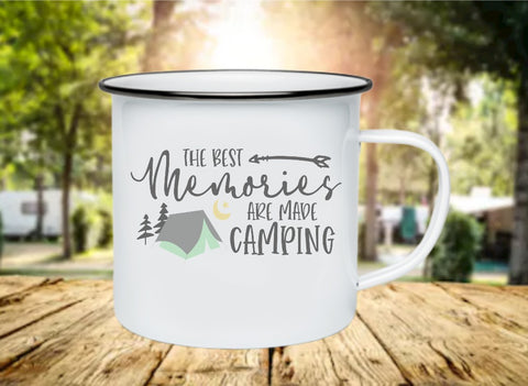 The Best Memories Are Made Camping 11oz Enamel Camp Mug