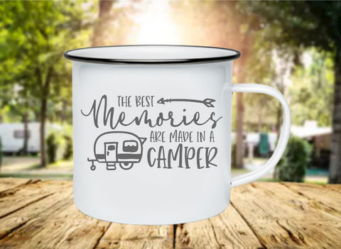 The Best Memories Are Made In A Camper 11oz Enamel Camp Mug