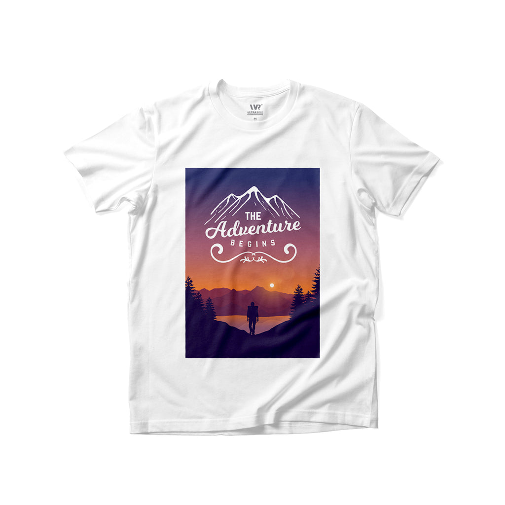 [The Adventure Begins] Premium Graphic Tee