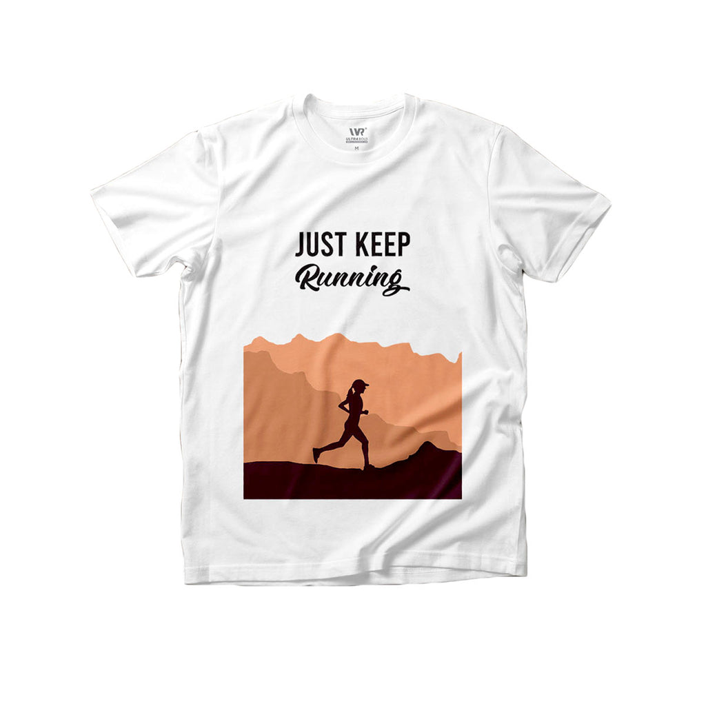 [Just Keep Running] Premium Graphic Tee