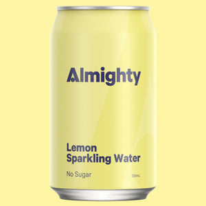 ALMIGHTY BEVERAGES LEMON SPARKLING WATER 330ML 24 PACK