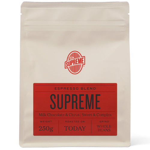 COFFEE SUPREME BLEND 250G FILTER MACHINE GRIND