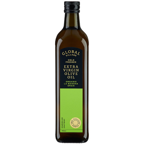 GLOBAL VILLAGE EXTRA VIRGIN OLIVE OIL ORGANIC SPAIN 750ML