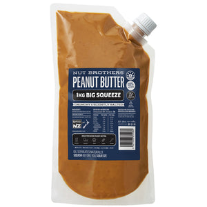 NUT BROTHERS PEANUT BUTTER CRUNCHY (1KG POUCH)
