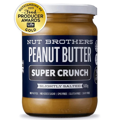 NUT BROTHERS PEANUT BUTTER SUPER CRUNCH (500GM)