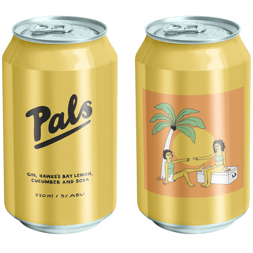 PALS GIN, HAWKES BAY LEMON, CUCUMBER & SODA 10 PACK