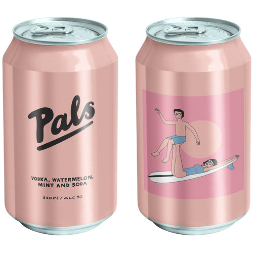PALS VODKA, WATERMELON, MINT & SODA 10 PACK