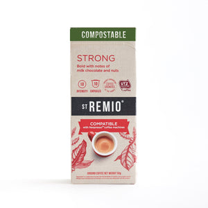 St Remio Coffee Nespresso Compostable STRONG Capsules 10pk 50g