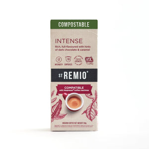 St Remio Coffee Nespresso Compostable INTENSE Capsules 10pk 50g