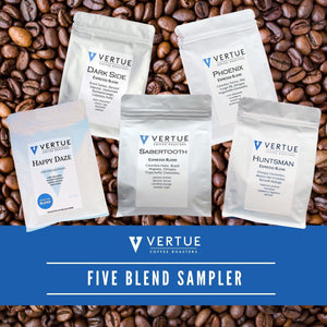 Vertue Coffee Roasters Five Espresso Blend Sampler Pack 5x250g