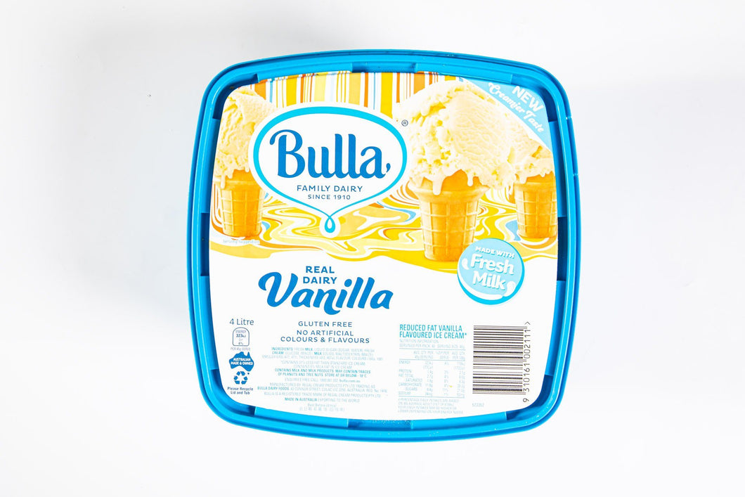 Vanilla Ice Cream - Bulla 4Lt