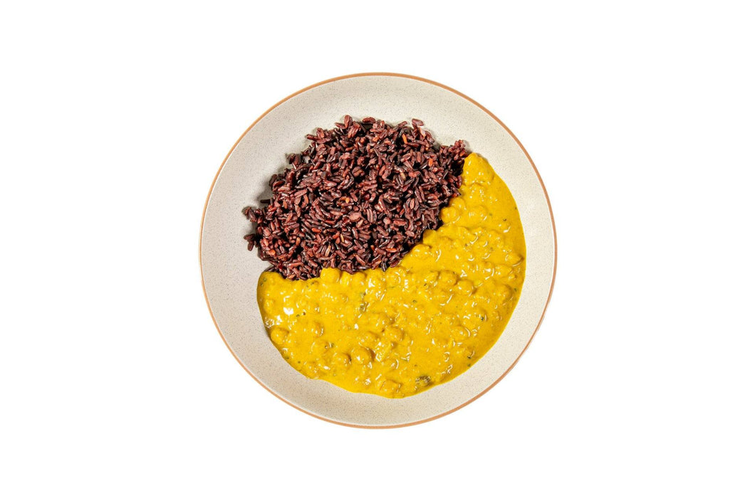 Coconut Chickpea Curry with Superfood Black Rice - Serves 4 (VEGAN)