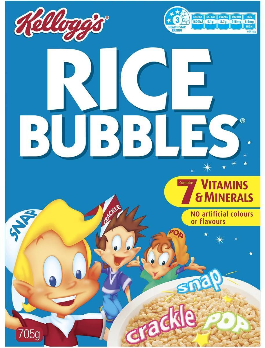 Rice Bubbles - Kelloggs 705g