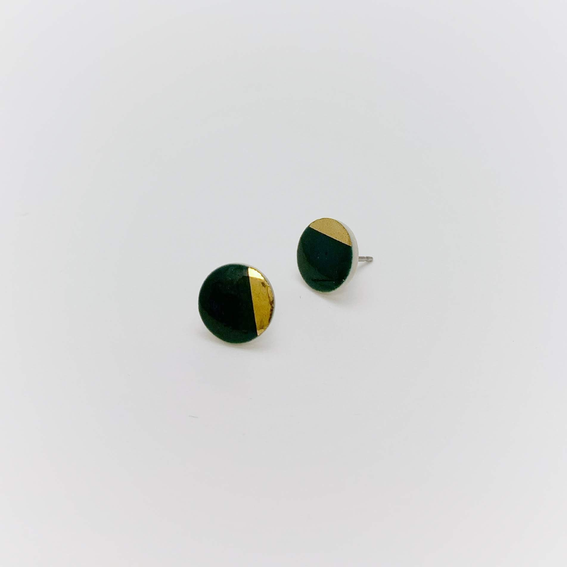 Gold Dipped Ceramic Studs