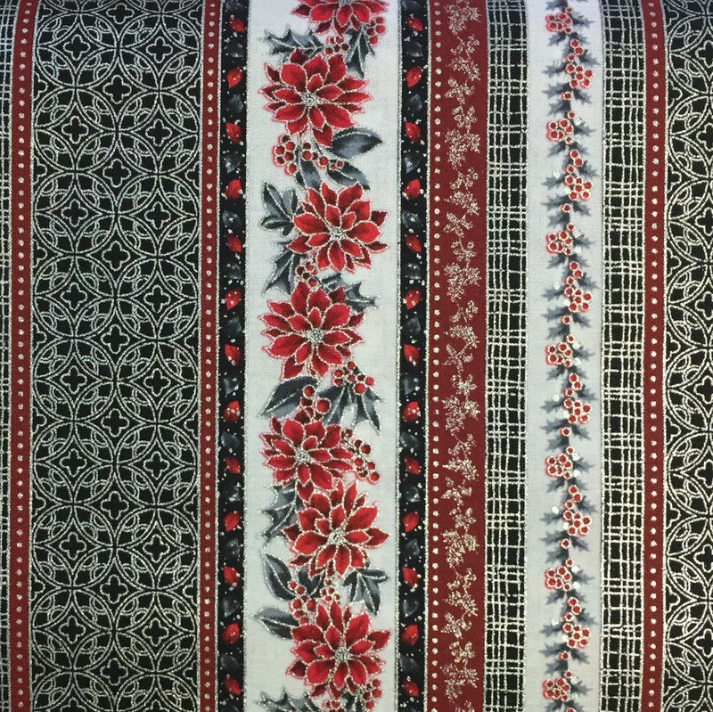 Border print red gray & white