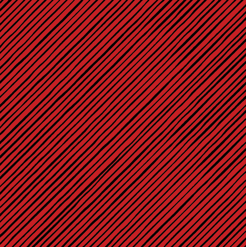 Red & Black Stripe on Bias