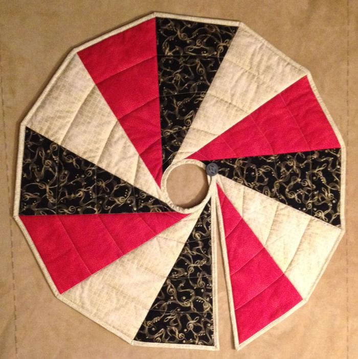 Pattern Modern Two Sided Christmas Tree Skirt