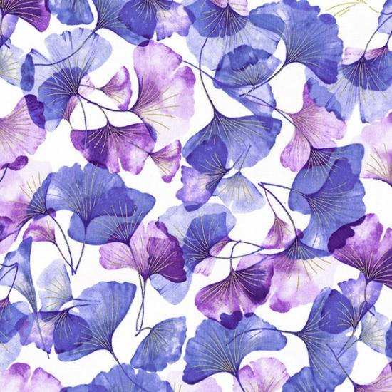 Purple Gingko Leaves Scattered