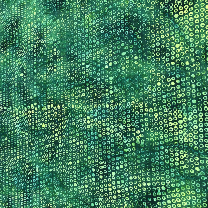 Bubble Hole Leaf Green Batik